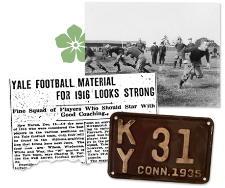 1916 Yale Football article clipping