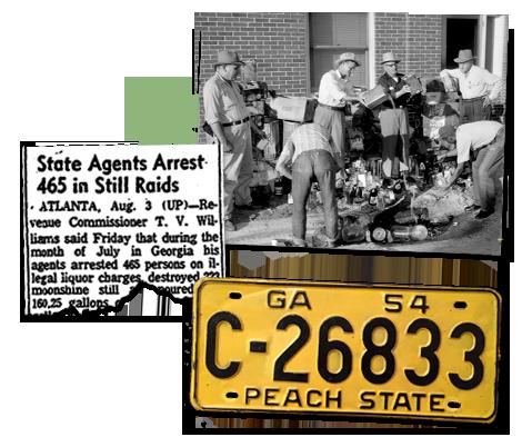 Newspaper clipping on still raids in Georgia