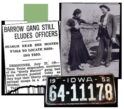 Iowa Newspaper article_Barrow Gang
