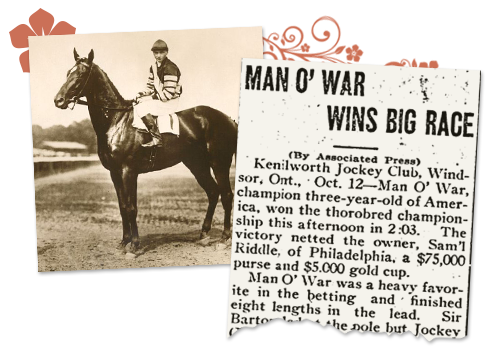 Kentucky newspaper archives photo of horse