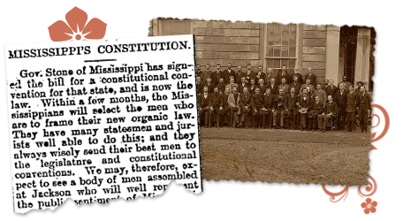 Mississippi_Constitution News in Old Newspaper Article