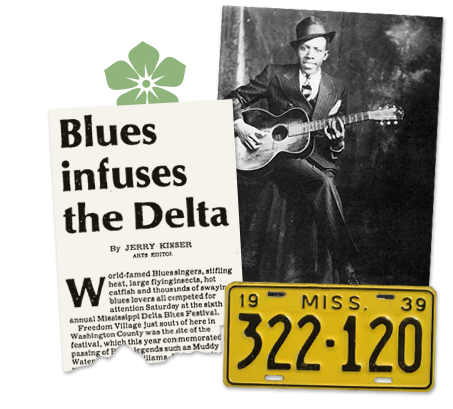 Mississippi_Old Newspaper Article Blues in the Delta