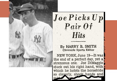 New York newspaper archives Joe DiMaggio