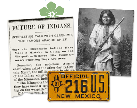 New Mexico Newspaper Archive and Photo of Indian