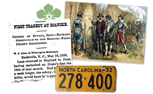 North Carolina Newspaper archive Roanoke Colony