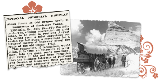 Old newspaper article about the old oregon trail