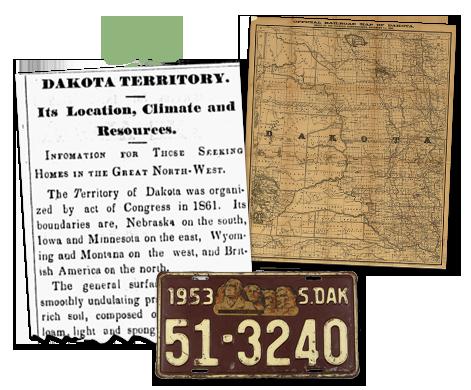 South Dakota newspaper archives-Territory of Dakota
