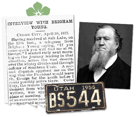 Utah newspaper archives Brigham Young