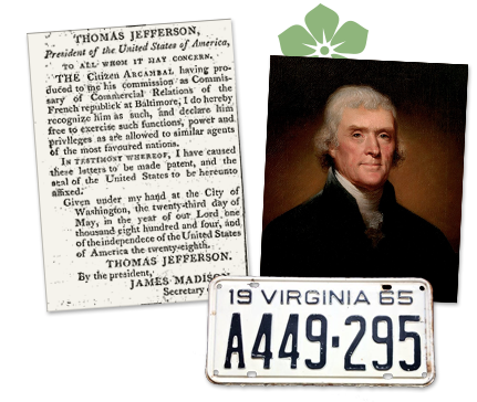 Virginia old newspaper article about Thomas Jefferson